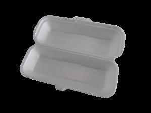 White styrofoam to-go box